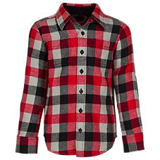 Bass Pro Shops Flannel Elbow Patch Button-Down Shirt for Toddlers or Kids