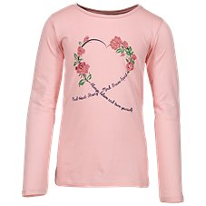 Bass Pro Shops Floral Heart Script Long-Sleeve Shirt for Toddlers or Kids