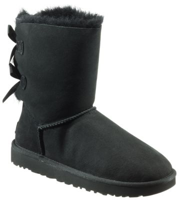 UGG Bailey Bow II Boots for Ladies - Black - 11M