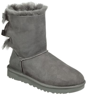 57dd2b3e65a UGG Bailey Bow II Boots for Ladies Grey 9M