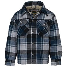 Bass Pro Shops Sherpa-Lined Button-Down Long-Sleeve Shirt for Toddlers or Kids