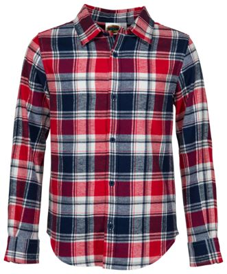 Bass Pro Shops Flannel Button-Down Shirt for Toddlers or Kids - Red/Navy Plaid - S