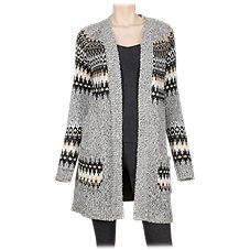 Natural Reflections Fair Isle Cardigan for Ladies