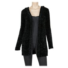 Natural Reflections Hooded Chenille Cardigan for Ladies