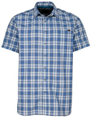 511 Tactical Hunter Plaid Shirt for Men Baltic Blue Plaid XL