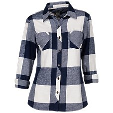 Natural Reflections Long-Sleeve Flannel Shirt for Ladies Image