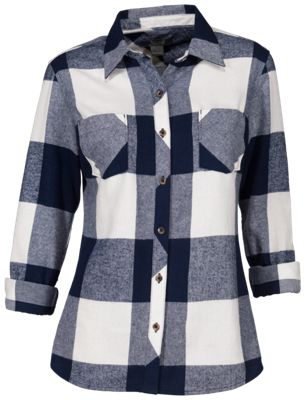 6d5b765241f Natural Reflections Long-Sleeve Flannel Shirt for Ladies