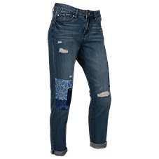 Natural Reflections Great Valley Distressed Ankle Jeans for Ladies