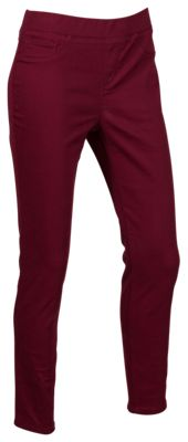 Natural Reflections Stretch Pull-On Jeans for Ladies - Tawny Port - S