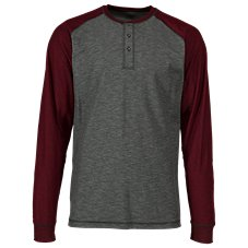 RedHead 5 Points Long-Sleeve Henley Shirt for Men Image
