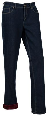 Natural Reflections Fleece-Lined Jeans for Ladies - Dark Wash - 18