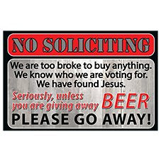 Bass Pro Shops No Soliciting Welcome Mat
