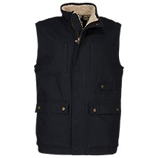 e262b4dc510 RedHead Sherpa-Fleece-Lined Canvas Vest for Men