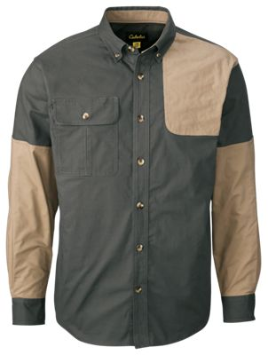 Cabela's Classic II Left-Hand Shooting Shirt for Men – Tundra/Maple – L