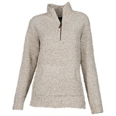 Natural Reflections 1/4-Zip Chenille Pullover for Ladies