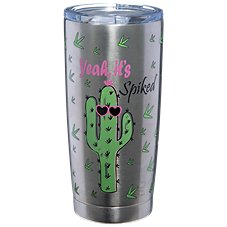 PURE Drinkware Yeah It's Spiked Stainless Steel Tumbler