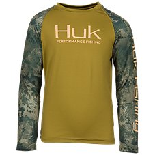 Huk Icon Camo Long-Sleeve Shirt for Kids