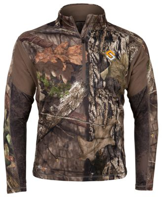 Scent-Lok Baseslayers AMP Midweight 1/4-Zip Top for Men – Mossy Oak Break-Up Country – L