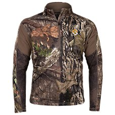 Scent-Lok Baseslayers AMP Midweight 1/4-Zip Top for Men
