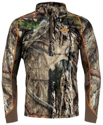 Scent-Lok Savanna Attack 1/4-Zip Shirt for Men – Mossy Oak Break-Up Country – S