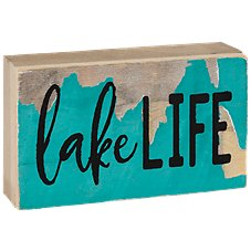 Sweet Bird & Co. Lake Life Tiny Tweet Wood Sign