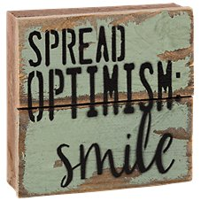 Sweet Bird & Co. Spread Optimism Wood Sign