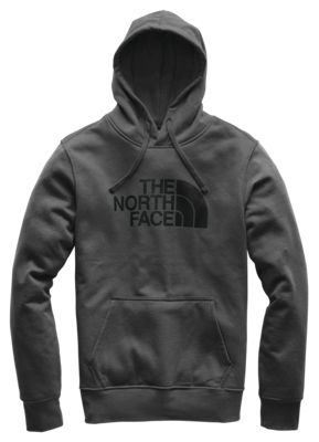 The North Face Half Dome Pullover Long Sleeve Hoodie For Men Asphalt Grey/tnf Black M