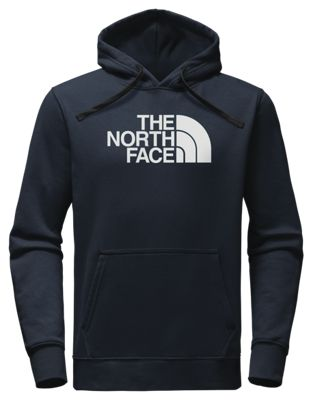 The North Face Half Dome Pullover Long Sleeve Hoodie For Men Urban Navy/tnf White L