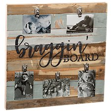 Sweet Bird & Co. Braggin' Board Reclaimed Wood Clip Frame