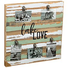 Sweet Bird & Co. Lake Love Reclaimed Wood Clip Frame