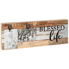 Sweet Bird & Co. Blessed Life Reclaimed Wood Clip Frame