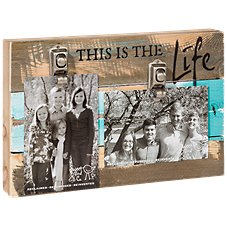 Sweet Bird & Co. This is the Life Reclaimed Wood Clip Frame
