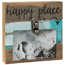Sweet Bird & Co. Happy Place Reclaimed Wood Clip Frame