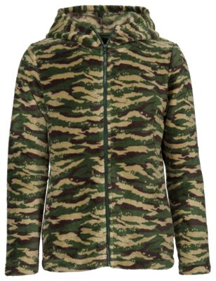 Bass Pro Shops Cozy Fleece Jacket for Kids - Camo Multi - XL thumbnail