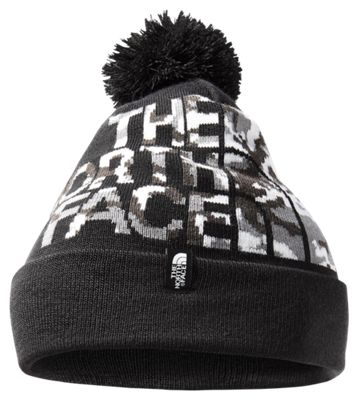 The North Face Ski Tune Beanie for Kids – TNF Black/TNF Black Camo – M