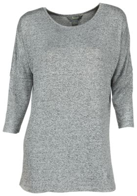 Natural Reflections Sweater Knit Tunic Top for Ladies - Egret - XL