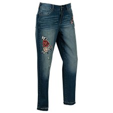 Bob Timberlake Embroidered Floral Jeans for Ladies