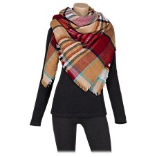 Quagga Maple and Berry Blanket Wrap for Ladies