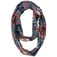 Quagga Ink Inscribed Cinched Infinity Scarf for Ladies