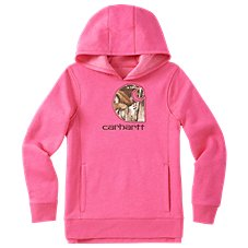 Carhartt Embroidered Camo C Sweatshirt for Girls