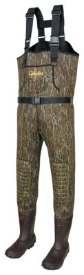 Cabela's Classic Series II Neoprene Boot-Foot Waders for Men – Mossy Oak Bottomland – 12Regular