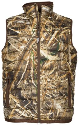 Drake Waterfowl Camo Double Down Layering Vest for Men – Realtree Max-5 – S