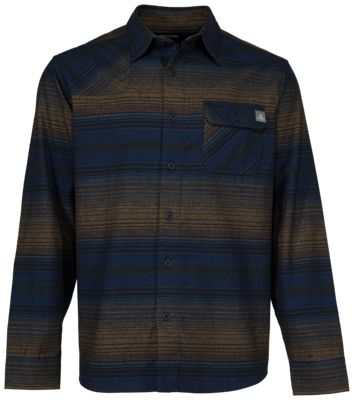 Ascend Striped Flannel Shirt for Men – Blue – LT