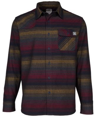 Ascend Striped Flannel Shirt for Men – Burgundy – 2XLT