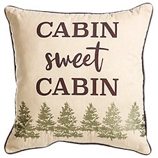 White River Berkshire Collection Cabin Sweet Cabin Throw Pillow