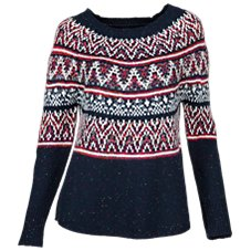 Natural Reflections Fair Isle Print Sweater for Ladies