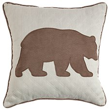 Bob Timberlake Sedona Bedding Collection Bear Applique Throw Pillow