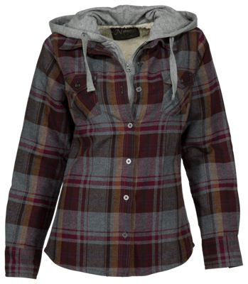 555b3ea7fc5 ... name   Natural Reflections 2-in-1 Hooded Flannel Shirt for Ladies