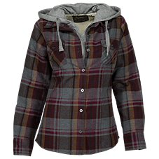 Natural Reflections 2-in-1 Hooded Flannel Shirt for Ladies