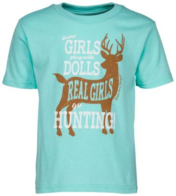 Bass Pro Shops Real Girls Hunt T-Shirt for Toddlers – Celadon – 2T